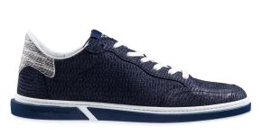 Floris van Bommel 13350/18 G1/2 blue Nubuck lizard sneaker