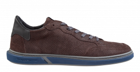 Floris van Bommel 13350/27 G1/2 brownprint suède Sneaker.
