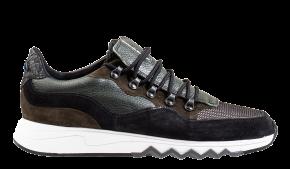 Floris van Bommel 16393/21 Green suède sneaker