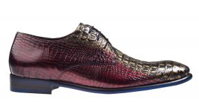 Floris van Bommel 18167/07 G1/2 Red Croco Premium veterschoen