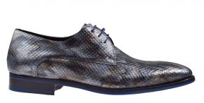 Floris van Bommel 18168/10 G1/2 grey print metal veterschoen