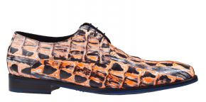 Floris van Bommel 18204/04 H Orange print veterschoen