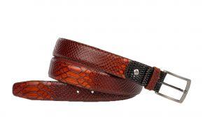Floris van Bommel 75188/11 cognac snake riem