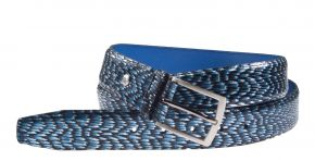 Floris van Bommel 75203/12 blauw print metal riem