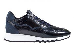 Floris van Bommel 85287/06 blauw lakleer sneaker.
