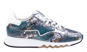 Floris van Bommel 85334/08 Steelblue Snake Sneaker